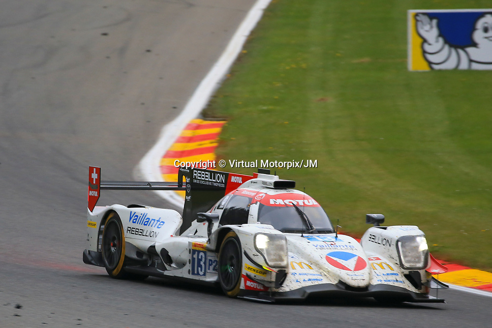 #13, Vaillante Rebellion, Oreca 07 Gibson, driven by, Mathias Beche, David Heinemeirer Hanson, Nelson Piquet Jr, FIA WEC 6hrs of Spa 2017, 06/05/2017,