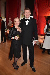 Deborah Meaden and Paul Meaden at the Tusk Ball at Kensington Palace, London, England. 09 May 2019.
