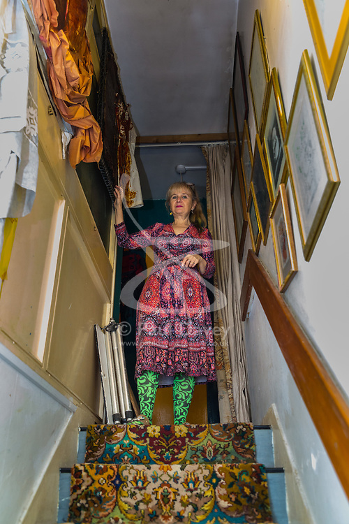 Artist Michelle Baharier, 55, is fighting payment demands by Southwark Council, the freeholders of her 2 bedroom Camberwell flat, which she purchased in 2008 under the Right to Buy Scheme, for the installation of a very expensive boiler system. London, November 16 2018.