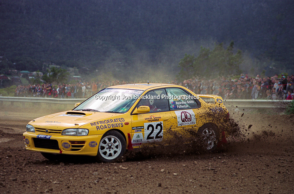Bruce Fullerton & Hugh Reardon-Smith - Subaru Impreza WRX - Saxon Safari Tasmania - ARC- 11th-12th September 1999