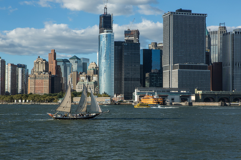 Manhattan and the Battery from the Governorsd Island Ferry.