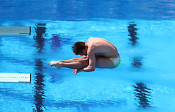 Australia's Kurtis Mathews competes in the Men's 3m Springboard Preliminary at the Optus Aquatic Centre during day eight of the 2018 Commonwealth Games in the Gold Coast, Australia. PRESS ASSOCIATION Photo. Picture date: Thursday April 12, 2018. See PA story COMMONWEALTH Diving. Photo credit should read: Danny Lawson/PA Wire. RESTRICTIONS: Editorial use only. No commercial use. No video emulation.