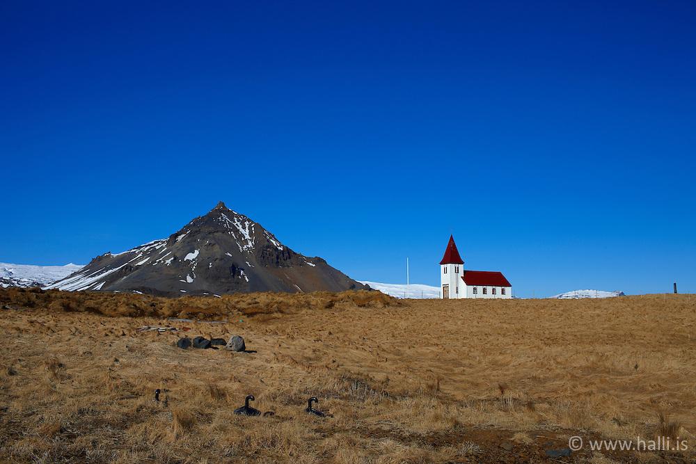 The Church Hellnakirkja at Hellnar, Snaefellsnes Iceland - Kirkjan að Hellnum á Snæfellsnesi