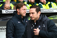 Southampton manager Ralph Hasenhuttl and Derby County Manager Frank Lampard during the The FA Cup 3rd round match between Derby County and Southampton at the Pride Park, Derby, England on 5 January 2019.