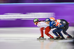 February 17, 2018 - Pyeongchang, Gangwon, South Korea - Charlotte Gilmartin of  Great Britaincompeting in 1500 meter speed skating for women at Gangneung Ice Arena, Gangneung, South Korea on 17 February 2018. (Credit Image: © Ulrik Pedersen/NurPhoto via ZUMA Press)