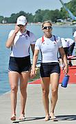 Belgrade, SERBIA. 2012   FISA World Cup I.  USA1 W2X.  [R], bow. Erin Cafaro, [L],Elle Logan.   Sunday  06/05/2012 [Mandatory Credit. Peter Spurrier/Intersport Images]