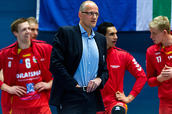 17-02-2019 NED: National Cupfinal Draisma Dynamo - Abiant Lycurgus, Zwolle<br /> Dynamo surprises national champion Lycurgus in cup final and beats them 3-1 / Coach Redbad Strikwerda of Dynamo