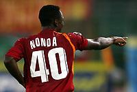 Fotball<br /> Serie A Italia<br /> Foto: Graffiti/Digitalsport<br /> NORWAY ONLY<br /> <br /> Roma 21/9/2005 Campionato Serie A <br /> <br /> Roma Parma 4-1<br /> <br /> Shabani Nonda celebrates after scoring his first goal