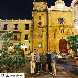 """Sofia Vergara releases a photo on Instagram with the following caption: """"So happy u r there!!!! @jessetyler @justinmikita #cartagenacolombia \ud83c\udf34\u2600\ufe0f\ud83d\udc83\ud83c\udffb"""". Photo Credit: Instagram *** No USA Distribution *** For Editorial Use Only *** Not to be Published in Books or Photo Books ***  Please note: Fees charged by the agency are for the agency's services only, and do not, nor are they intended to, convey to the user any ownership of Copyright or License in the material. The agency does not claim any ownership including but not limited to Copyright or License in the attached material. By publishing this material you expressly agree to indemnify and to hold the agency and its directors, shareholders and employees harmless from any loss, claims, damages, demands, expenses (including legal fees), or any causes of action or allegation against the agency arising out of or connected in any way with publication of the material."""
