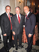 **EXCLUSIVE**.Tommy Belisis and NY Mayor Michael Bloomberg..Tommy Belisis CEO of John Thomas Financial receives Man of The Year for leadership and services from Michael Bloomberg..Fundraiser for Mike Bloomberg Campaign..Villa Veron Manor..Bronx, NY, USA..Thursday, October 22, 2009..Photo By Celebrityvibe.com.To license this image please call (212) 410 5354; or Email: celebrityvibe@gmail.com ; .website: www.celebrityvibe.com.