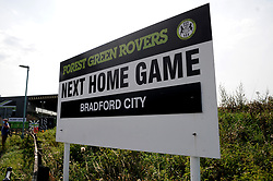 General views outside the stadium- Mandatory by-line: Nizaam Jones/JMP - 19/09/2020 - FOOTBALL - New Lawn Stadium - Nailsworth, England - Forest Green Rovers v Bradford City - Sky Bet League Two