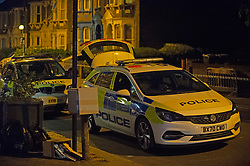 © Licensed to London News Pictures 01/06/2021. Hither Green, UK. A 23 year old man has been stabbed in the face in Hither Green, London this evening police are on scene and a cordon is in place. The man is in a life threating condition in hospital. Photo credit:Grant Falvey/LNP