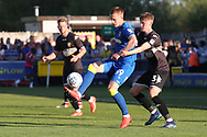 AFC Wimbledon striker Joe Pigott (39) holding up the ball during the EFL Sky Bet League 1 match between AFC Wimbledon and Bury at the Cherry Red Records Stadium, Kingston, England on 5 May 2018. Picture by Matthew Redman.