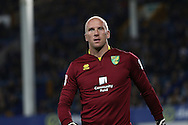 Norwich City Goalkeeper John Ruddy looks on. EFL Cup, 3rd round match, Everton v Norwich city at Goodison Park in Liverpool, Merseyside on Tuesday 20th September 2016.<br /> pic by Chris Stading, Andrew Orchard sports photography.