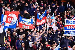 November 2, 2018 - Paris, Ile-de-France, France - The Paris Saint Germain Ultras celebrate the first goal during the french Ligue 1 match between Paris Saint-Germain (PSG) and Lille (LOSC) at Parc des Princes stadium on November 2, 2018 in Paris, France. (Credit Image: © Julien Mattia/NurPhoto via ZUMA Press)