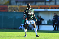 Freddie Ladapo (19) of Plymouth Argyle during the EFL Sky Bet League 1 match between Plymouth Argyle and Burton Albion at Home Park, Plymouth, England on 20 October 2018.