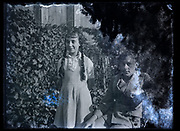 damaged portrait of sister and brother France 1930s