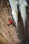 Chris Thomas on Bottomless Topless M8, WI6, Maple Canyon, UT