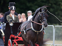 Lady Louise Windsor competes in the British Driving Society championship for young riders during the Bentley Motors Royal Windsor Cup Final at Guards Polo Club, Windsor Great Park, Egham, Berkshire.