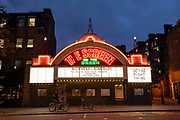 The Screen on the Green cinema on the 17th October 2019 in London in the United Kingdom. The Screen on the Green in Islington is one of the country's oldest cinemas, it opened in 1913 and has been a single-screen cinema ever since.