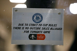 A general view of signage ahead of the match
