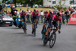 Team Ineos (GBR,WT,Pinarello) with Egan Bernal (COL)during stage 2 TTT from Bruxelles to Brussel of the 106th Tour de France, 7 July 2019. Photo by Pim Nijland / PelotonPhotos.com | All photos usage must carry mandatory copyright credit (Peloton Photos | Pim Nijland)