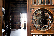 Entrance to the great read room, Biblioteca Vallicelliana, Rome, Italy