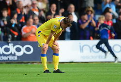 Tom Lockyer of Bristol Rovers looks dejected at full time. - Mandatory by-line: Alex James/JMP - 15/09/2018 - FOOTBALL - Kenilworth Road - Luton, England - Luton Town v Bristol Rovers - Sky Bet League One
