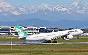 EP-MMI Iranian Mahan Air Airbus A340-642 at Malpensa (MXP / LIMC), Milan, Italy