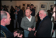 MARTIN BRUNDLE; PERRY MCCARTHY; ( STIG ) JOHN BROOKS , Private view for Senna: Photographs by Keith Sutton Proud Chelsea www.proud.co.uk.<br /> , London.  5th March 2014