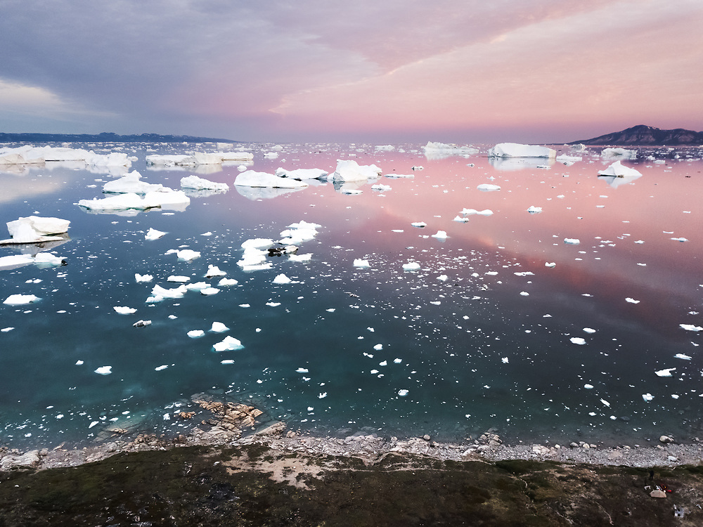 Sunset over Disco Bay, Greenland