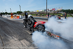 Drag Racing at the Sturgis Dragway during the Sturgis Black Hills Motorcycle Rally. Sturgis, SD, USA. Tuesday, August 6, 2019. Photography ©2019 Michael Lichter.