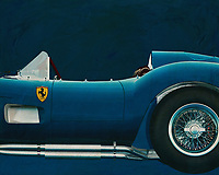 """Ferrari F 250G Testarossa 1964<br /> In total, only 34 Ferrari Testa Rossa's were produced between 1956 and 1961. """"Testa Rossa"""" means """"red head"""", which refers to the red coloured cylinder heads. Of the best-known model, the 250 TR, only two factory and nineteen customer cars were built between '57 and '58. After the 250 GTO, the Testa Rossa is the most valuable Ferrari, with cars auctioned for more than six million euros[1]. The very first car (which competed in the 1958 Le Mans 24 Hours) was sold in 2011 for more than 11.4 million euros, a record price at the time for a Ferrari TR -<br /> <br /> BUY THIS PRINT AT<br /> <br /> FINE ART AMERICA<br /> ENGLISH<br /> https://janke.pixels.com/featured/3-ferrari-f-250g-testarossa-1964-jan-keteleer.html<br /> <br /> WADM / OH MY PRINTS<br /> DUTCH / FRENCH / GERMAN<br /> https://www.werkaandemuur.nl/nl/shopwerk/Ferrari-F-250G-Testarossa-1957-Zijkant/571914/132"""