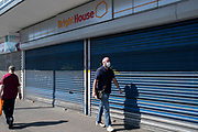 Brightside, as many shops are closed down and retail sales suffering due to the Coronavirus pandemic, shoppers wearing face maks, which became compulsory in shops on the 24th July, go out shopping on Kings Heath HIgh Street on 31st July 2020 in Birmingham, United Kingdom. Coronavirus or Covid-19 is a respiratory illness that has not previously been seen in humans. While much or Europe has been placed into lockdown, the UK government has put in place more stringent rules as part of their long term strategy, and in particular social distancing.
