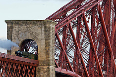 Flying Scotsman crosses Forth Bridge | North Queensferry | 15 May 2016