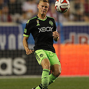 Andy Rose, Seattle Sounders, in action during the New York Red Bulls Vs Seattle Sounders, Major League Soccer regular season match at Red Bull Arena, Harrison, New Jersey. USA. 20th September 2014. Photo Tim Clayton