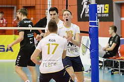 Rok Rezak of OK Triglav celebrate during volleyball match between Calcit Volley and OK Triglav in the half Final of Slovenian Volleyball Cup 2017, on December 22, 2017 in Hoce, Slovenia. Photo by Mario Horvat / Sportida