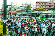 Motorcycle traffic in Ho Chi Minh city (Saigon), Vietnam