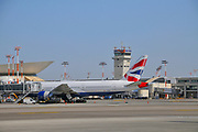 British Airways Boeing 777 at Ben Gurion airport, Israel