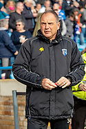 Gillingham FC manager Steve Lovell during the EFL Sky Bet League 1 match between Gillingham and Oxford United at the MEMS Priestfield Stadium, Gillingham, England on 9 March 2019.