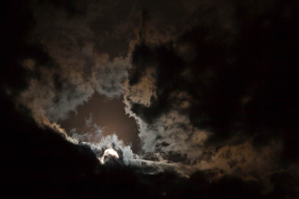 The partial solar eclipse on May 20, 2012 seen from near Pine, Colorado.