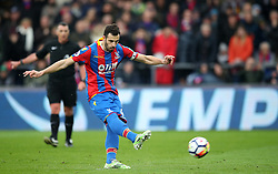 Crystal Palace's Luka Milivojevic scores his side's first goal of the game during the Premier League match at Selhurst Park, London.