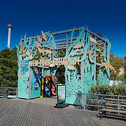 New York Aquarium entrance in Brooklyn