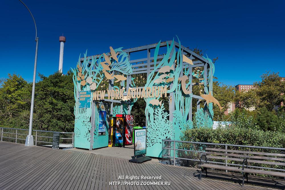 New York Aquarium entrance in Brooklyn