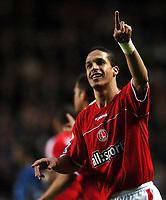 Photo: Javier Garcia/Back Page Images<br />Charlton Athletic v Arsenal, FA Barclays Premiership, The Valley 01/01/2005<br />Talal El Kalkouri celebrates his equaliser