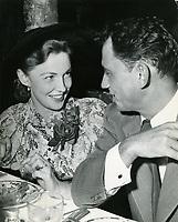 1953 Joan Leslie and husband, Dr. William Caldwell, at Ciro's Nightclub
