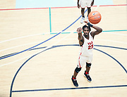 NORTH AUGUSTA, SC. July 10, 2019. Joshua Gray 2020 #23 of PSA Cardinals 17U shoots a free-throw at Nike Peach Jam in North Augusta, SC. <br /> NOTE TO USER: Mandatory Copyright Notice: Photo by Royce Paris / Jon Lopez Creative / Nike