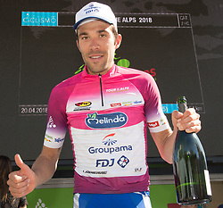 20.04.2018, Innsbruck, AUT, Tour of the Alps, Österreich, 5. Etappe, von Rattenberg nach Innsbruck (164,2 km), im Bild Thibaut Pinot (FRA, Groupama - FDJ) // Thibaut Pinot of France Team Groupama - FDJ during 5th stage from Rattenberg to Innsbruck of 2018 Tour of the Alps in Innsbruck, Austria on 2018/04/20. EXPA Pictures © 2018, PhotoCredit: EXPA/ Reinhard Eisenbauer