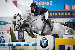 Thiry Kim (BEL) - NCS Chelsea Z<br /> Belgium Championship Jumping - Lanaken 2012<br /> © Dirk Caremans