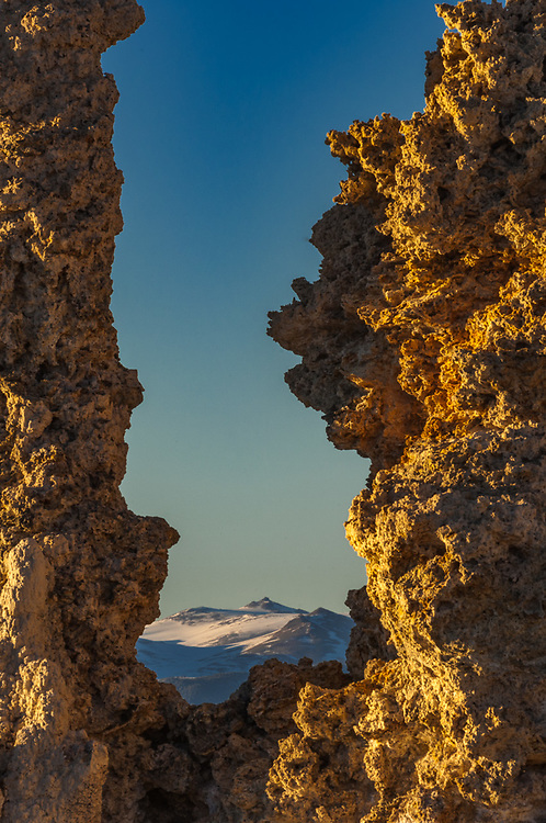 Tufa towers, April, afternoon light, Mono Lake State Natural Reserve, eastern Sierra Mountains, Inyo County, California, USA
